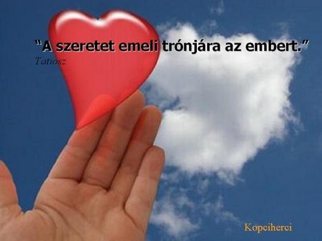 A szeretet Tatiosz