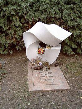 Solti György sírja