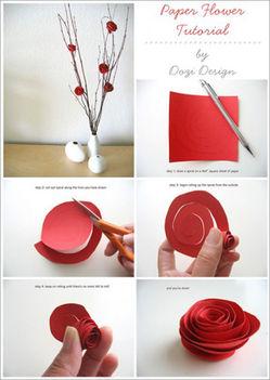 egyszerű spírál rózsa