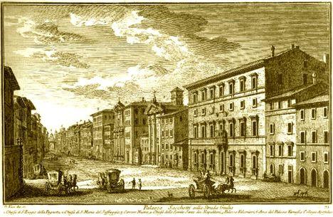 Palazzo Sacchetti sulla Strada Giulia