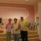 A kiállítás összeállítói Zolival, a polgárőrrel
