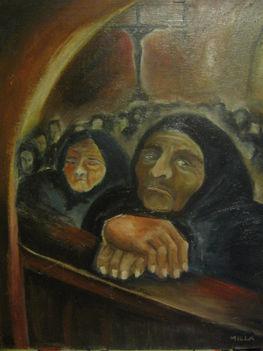 asszonyok a templomban