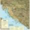 Horvátország és Bosznia-Hercegovina térképe