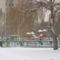 Játszótér a Jerevánon télen