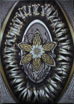 Floral - A3 golyóstoll rajz