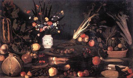 Csendélet virágokkal, gyümölccsel-Galleria Borghese