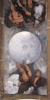 Jupiter Neptun és Plutó- Casino Boncompagni Ludovisi -mennyezet freskó