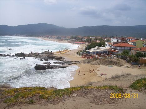 a strand panorámája