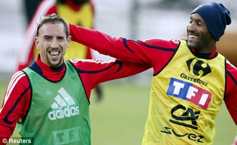 Franck Ribery és Nicolas Anelka