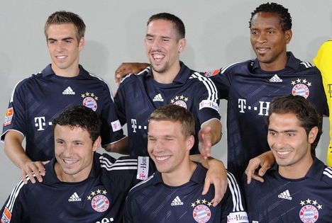 Lahm, Ribery, Roberto, Mark van Bommel, Podolski, Hamit Altintop