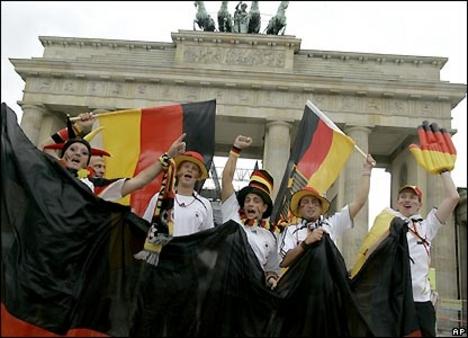 német szurkolók