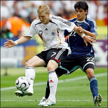 Schweinsteiger meccs közben