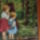 Kislányok az erdőben 40x50