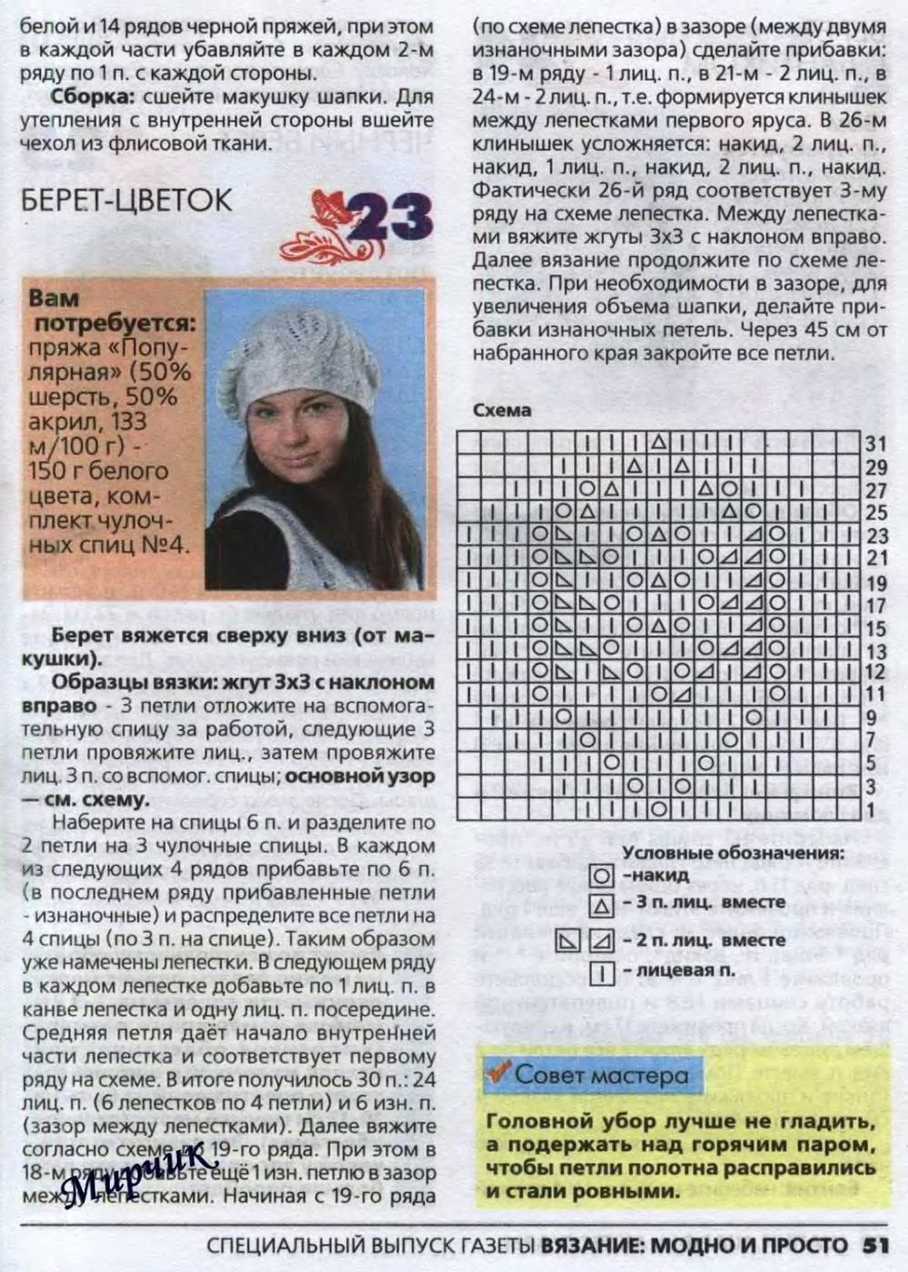 Вязание шапки-кубанки спицами описание