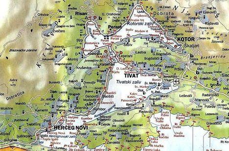 Montenegro - Kotor térkép