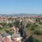 Látkép a várból a város északi részéreA vár alatt a Benedek hegy, és Dózsa város látképe
