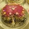 Szivecske menyasszonyi torta