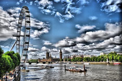 London Eye HDR kép 03