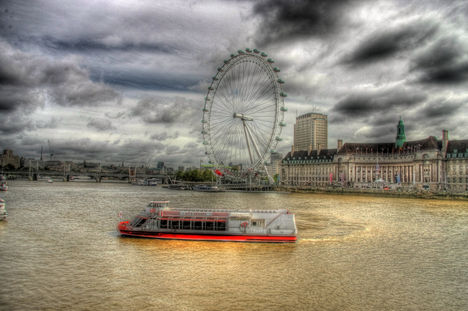 London Eye HDR kép 08