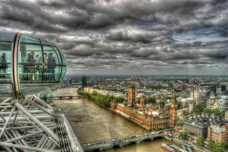 London Eye HDR kép 09