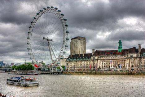 London Eye HDR kép 10