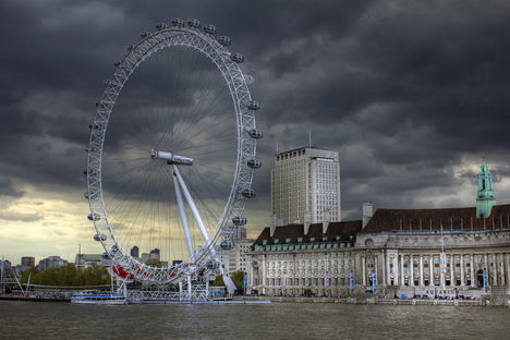 London Eye HDR kép 12