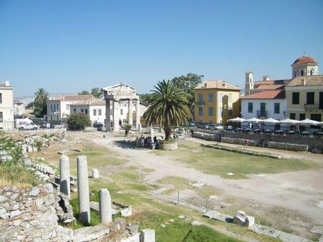 séta közben az ókori város
