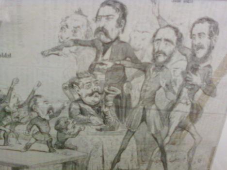 Karikatúra az országházi  alsó és felső házról