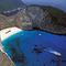 A Navagio öböl a híres hajóronccsal