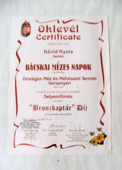 Bronzkaptár díj plakett - 2002.