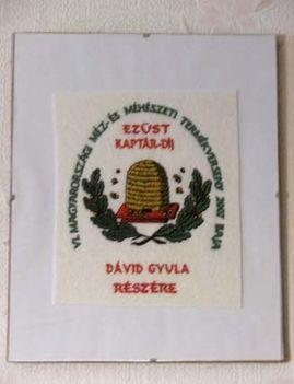 ezüstkaptár díj, plakett - 2007