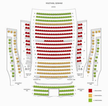 fesztivál színház üléssorai