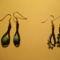 türkizes fülbevalók