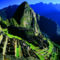 Peru Machu Picchu Sunset.