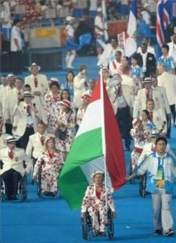 A magyar sportolók bevonulása