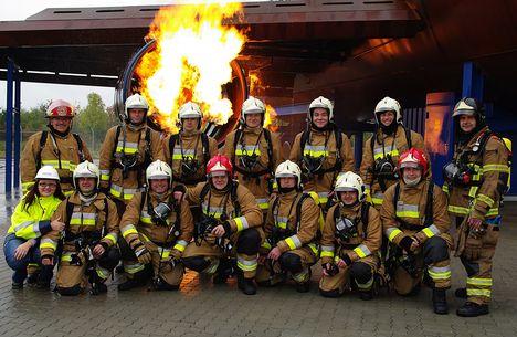a tűzoltó csapat