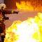 tűzoltás Lipcsei gyakorlaton