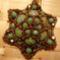 zöld márványos Gréta