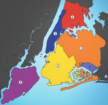New York kerületei.