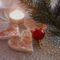 csillámporos szivecske liszt-só gyurmából