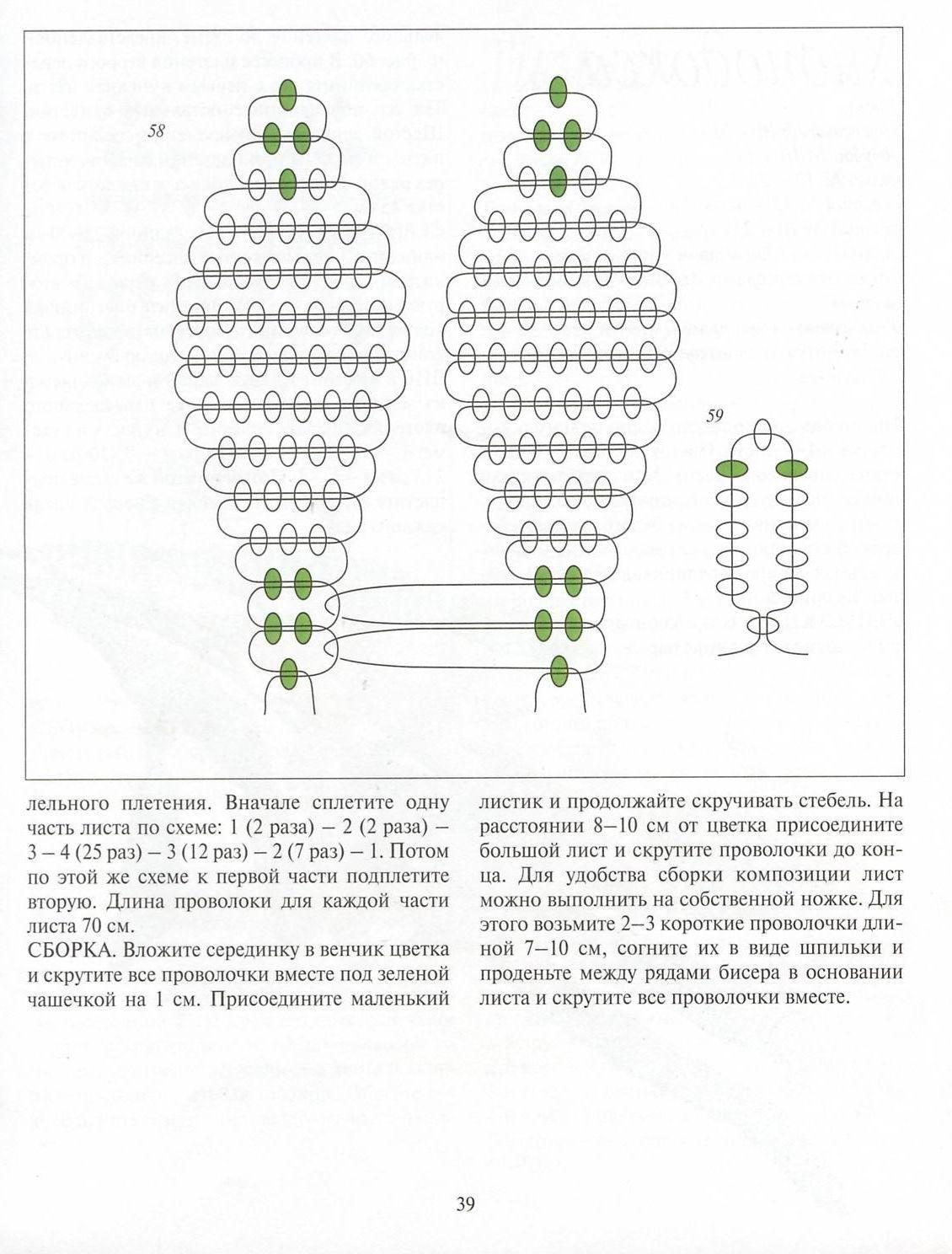 Тюльпаны из бисера схема плетения с пошаговым