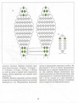 Схемы и плетение из бисера лилиями