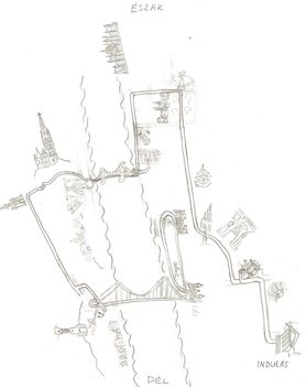 Széchenyi fővárosa kincskereső séta térképe vastagított