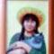 portré macskával
