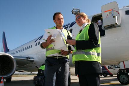 ramp agents, vagyis repülőgép földi irányítók
