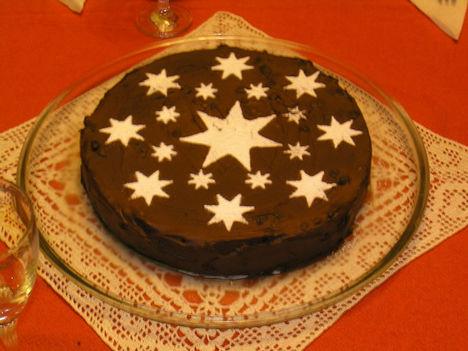 csokoládés marcipán torta