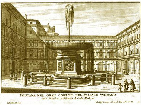 Fontana del gran cortile del Palazzo Vaticano