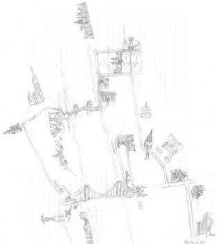 a séta rajzolt útvonala