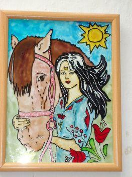 Lány lóval