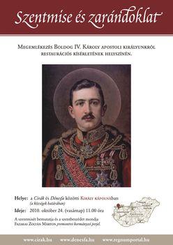 IV Károly apostoli királyunk